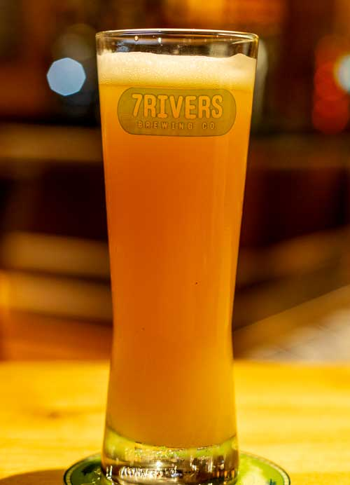 The New World Pilsner at 7Rivers Brewing Co.