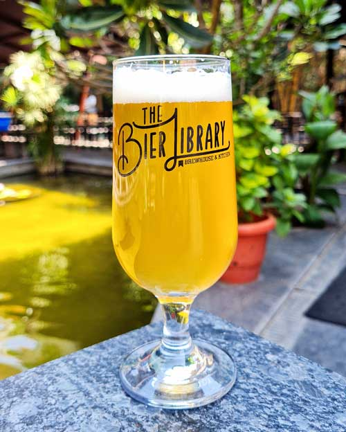 Ice Tea Lager at The Bier Library, Bangalore